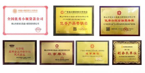 """【会员动态】日昌盛小额贷款公司被授予""""大沥镇品牌企业""""称号"""